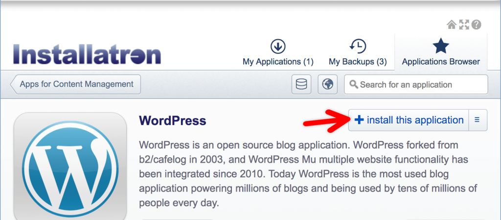 Wordpress installeren met Installatron: Veilig, snel en makkelijk!